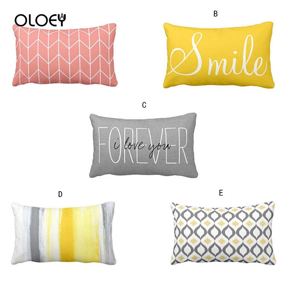 30X50 Pillow Case Rectangular Letter Design Pillow Case, Comfortable Pillow Case and Cool Pillow Case Home Bedroom Pillow Case .