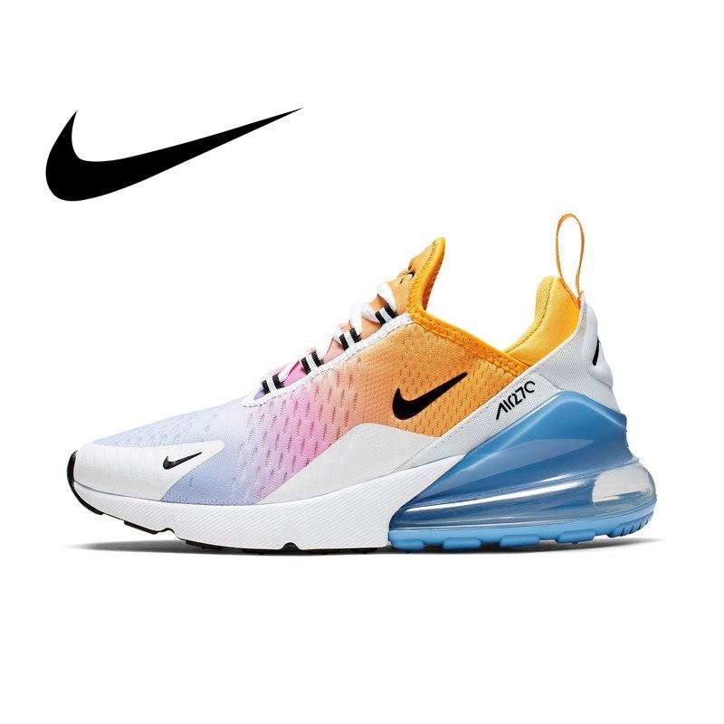 NIKE Air Max 270 femmes respirant chaussures de course Sport en plein Air baskets athlétique Massage Designer chaussures bas AH6789-702