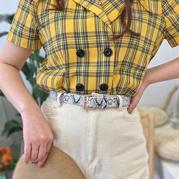 Women PU Leather Belts Snake Pattern Waist Belt Punk Casual High Quality Designer Trouser Jeans Dress Female Decoration Belt off shoulder stripe pattern dress with waist belt