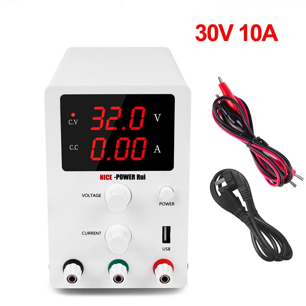 DC laboratoire régulé USB alimentation 30V 10A réglable laboratoire tension régulateur stabilisateur commutation banc Source AC 220 V