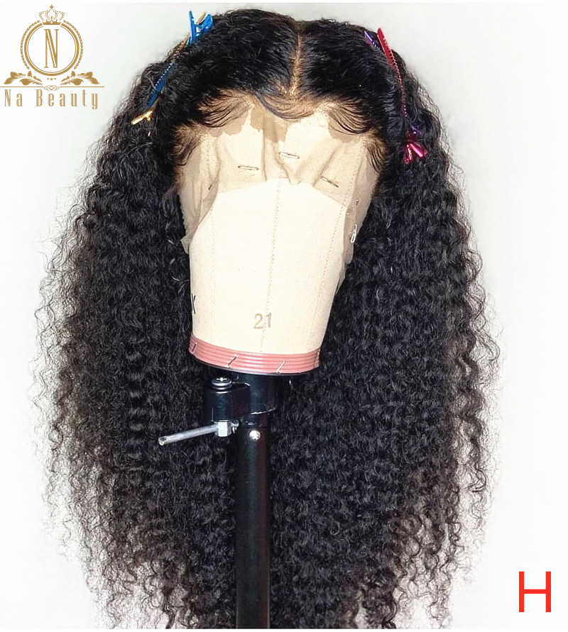 180 High Density Afro Kinky Curly Lace Front Wigs 13x6 Lace Front Human Hair Wig For Black Women Pre Plucked Kinky Wigs Nabeauty