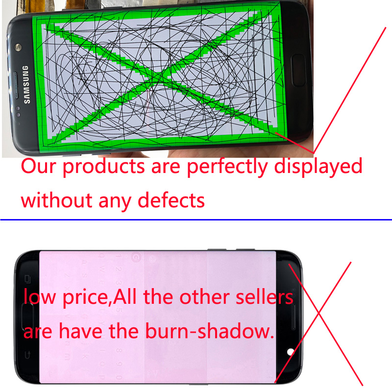 Image 2 - New Without Burn Shadow Super AMOLED Display For Samsung Galaxy S7 Edge LCD With Frame G935 G935F G935FD Digitizer Touch Screen-in Mobile Phone LCD Screens from Cellphones & Telecommunications