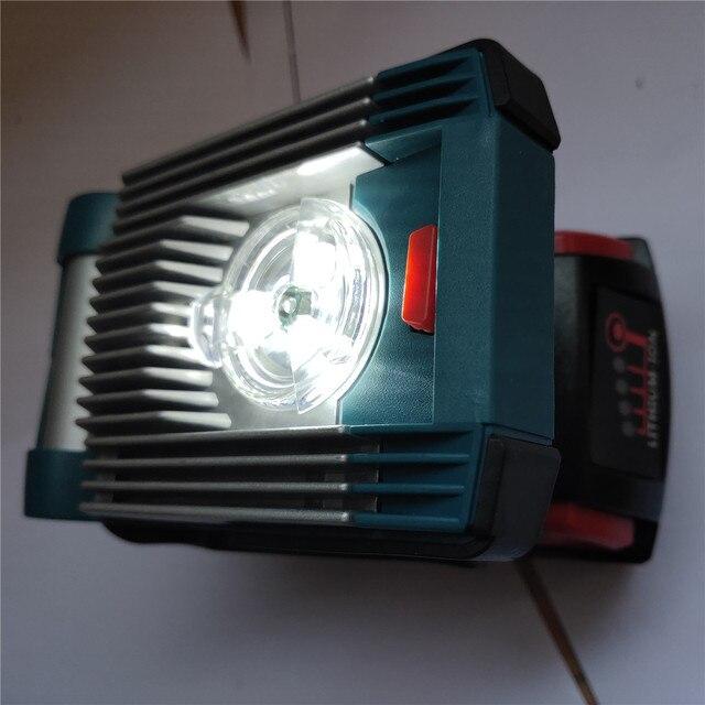 NEWEST LED Working Lamp Light For DeWalt for Makita for Milwaukee for Bosch 18V 20V Battery high quality led light hot sell