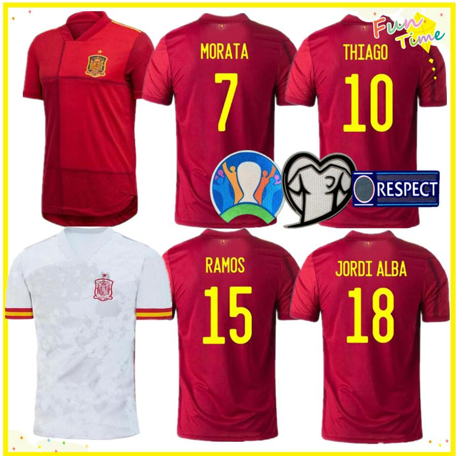 2020 Spain Home Away Soccer Jersey ASENSIO MORATA ISCO INIESTA PACO ALCACER THIAGO Football Adult Man Shirts