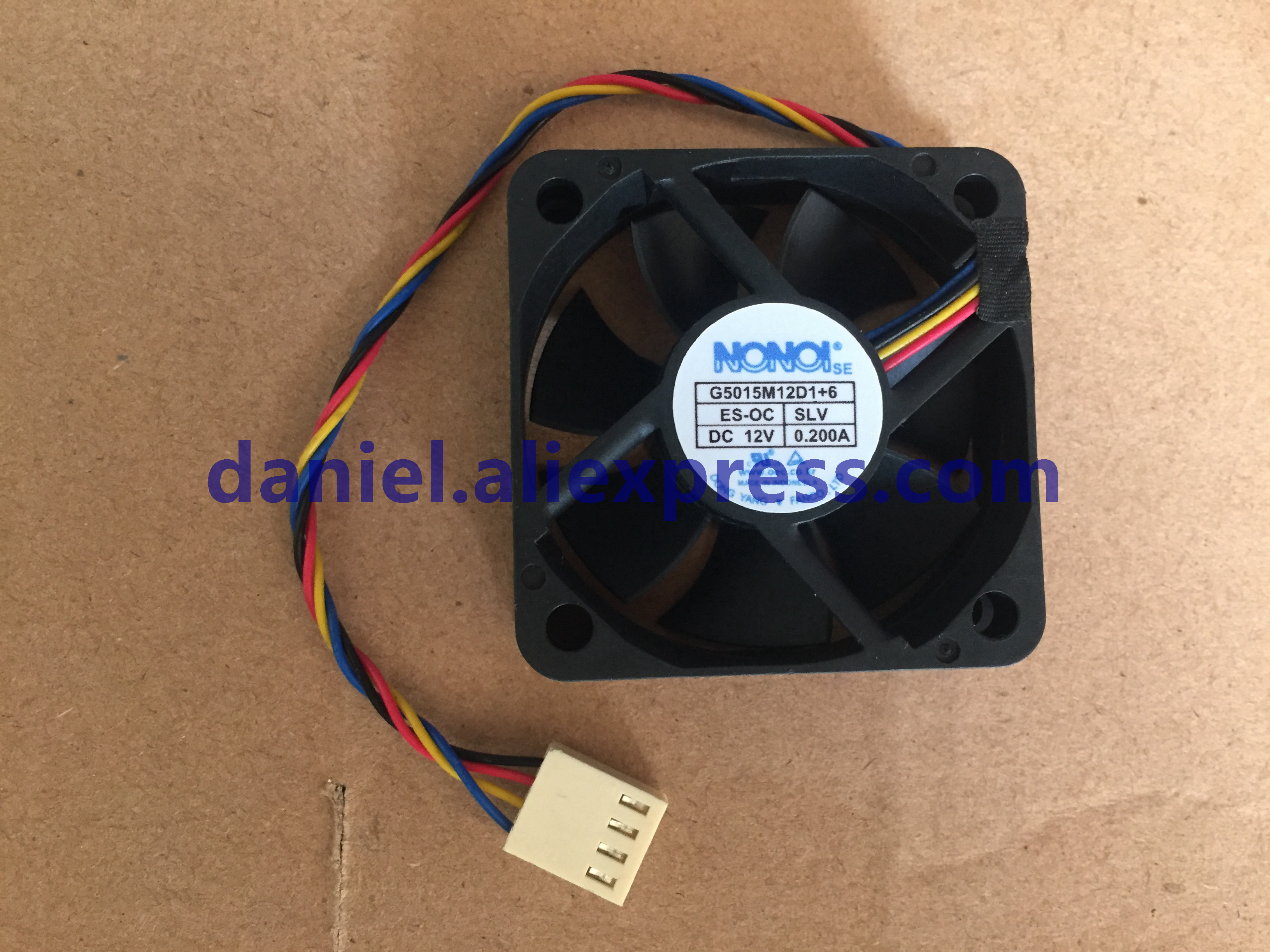 For NONOISE G5015M12D1 6 5015 12V 0.200A car audio cooling fan