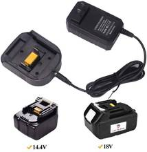 Battery Charger for Makita Charger 14.4V 18V BL1415 BL1815 BL1830 BL1850 Replacement Lithium Battery Charger UK/EU/US Plug 14 4v 18v battery charger for bosch 1 6a lithium battery adapter dual usb charger uk eu us plug power tool replacement us plug