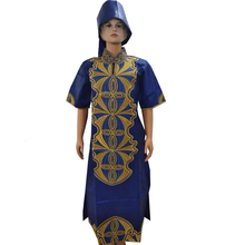 MD 2019 bazin riche dashiki women dress traditional african dresses for embroidery long with headtie clothes