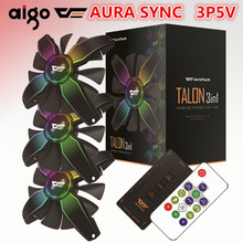 darkflash Aigo Computer PC Case Fan RGB Adjust LED Fan Speed 120mm Quiet Remote AURA SYNC Computer Cooler Cooling RGB Case Fans(China)