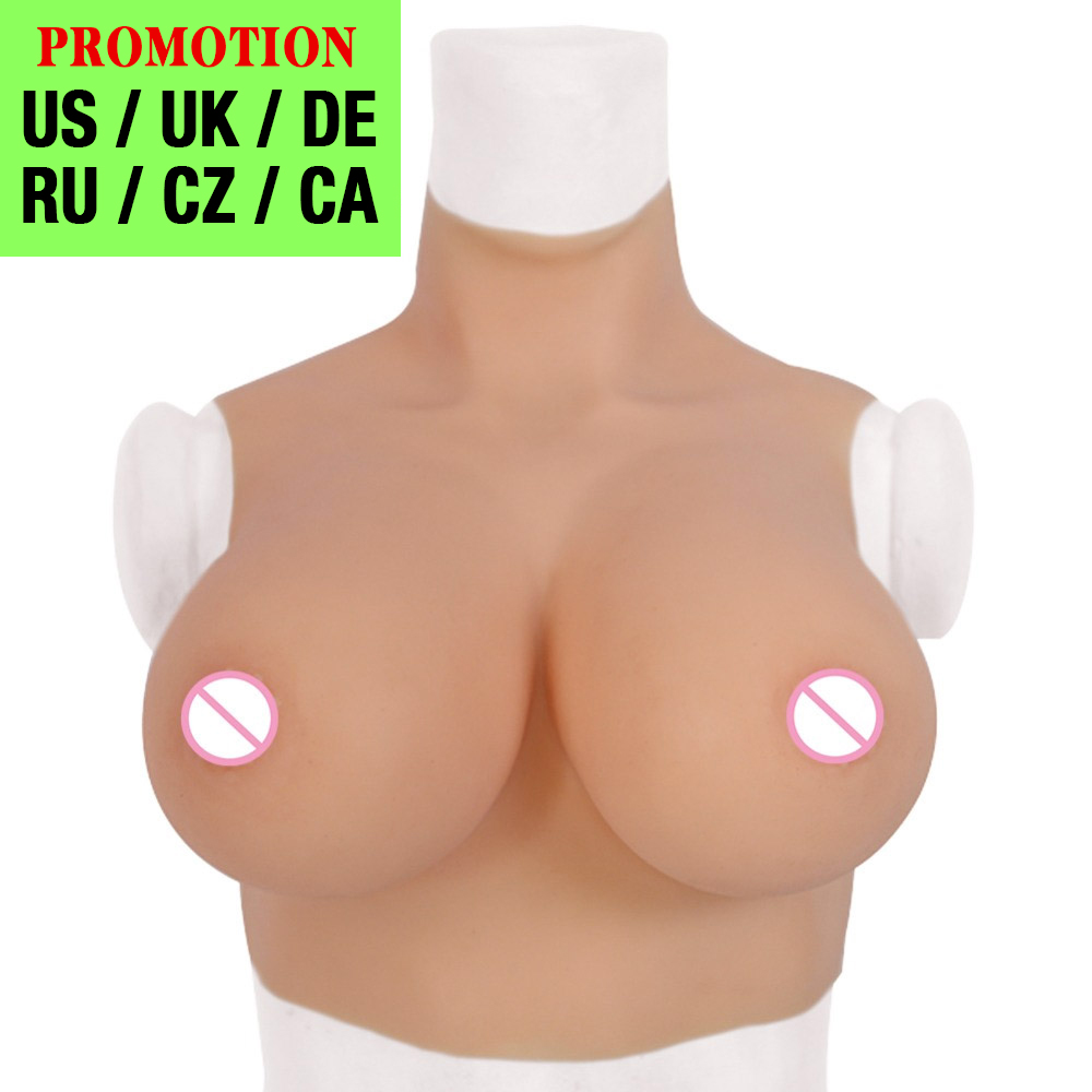 Silicone Breast Forms Realistic Fake Boobs Tits Enhancer Crossdresser Drag Queen Shemale Transgender Crossdressing C D F G Cup