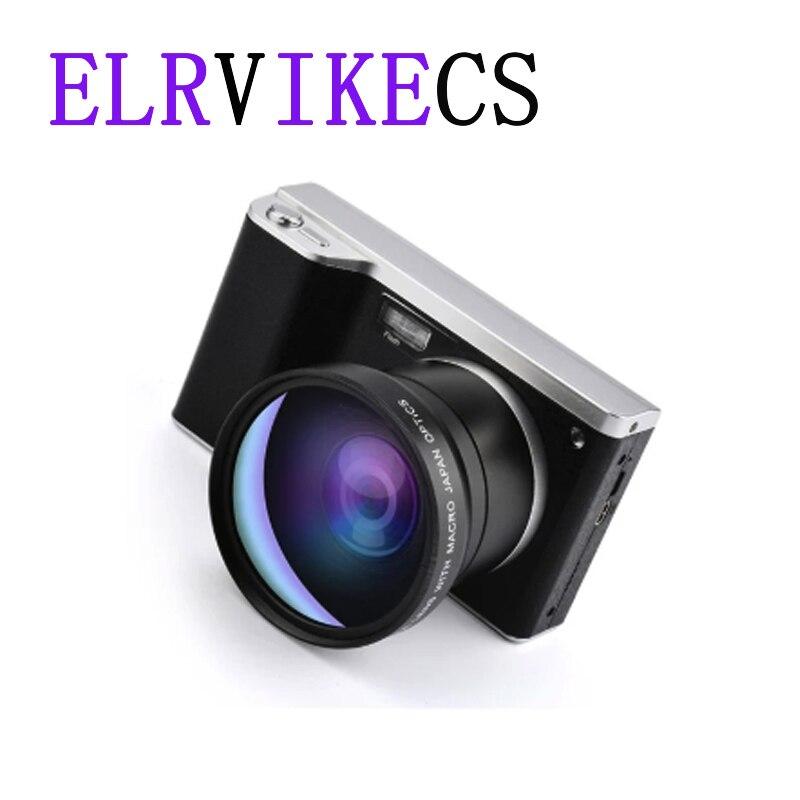 ELRVIKECS 4 дюймовый Ультра Высокое разрешение 24 миллионов пикселей 1080P 12X оптический зум подходит небольшой одноножный Камера IPS сенсорный Экра...