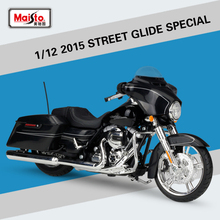1:12 2015 STREET GLIDE SPECIAL Maisto Model Car Metal Diecast Model Sport Race Motorcycle Model Motorbike For Collectible