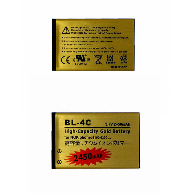 Rechargeable Phone Battery for <font><b>Nokia</b></font> 1506 1508 1661 1706 2228 5100 6103 1006 3108 3500 C2-05 Battery Accumulator Models <font><b>BL</b></font> <font><b>4C</b></font> image