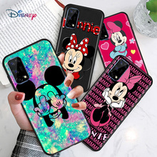 Disney Cartoon Animation Lovely Mickey Mouse For Huawei Honor V30 30S 30i 30 20 20E 20i 20S Lite Pro Plus Soft Black Phone Case