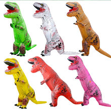10 Colors T-rex Inflatable Jurassic World Dinosaur  Costume Adult/Kids Halloween Show