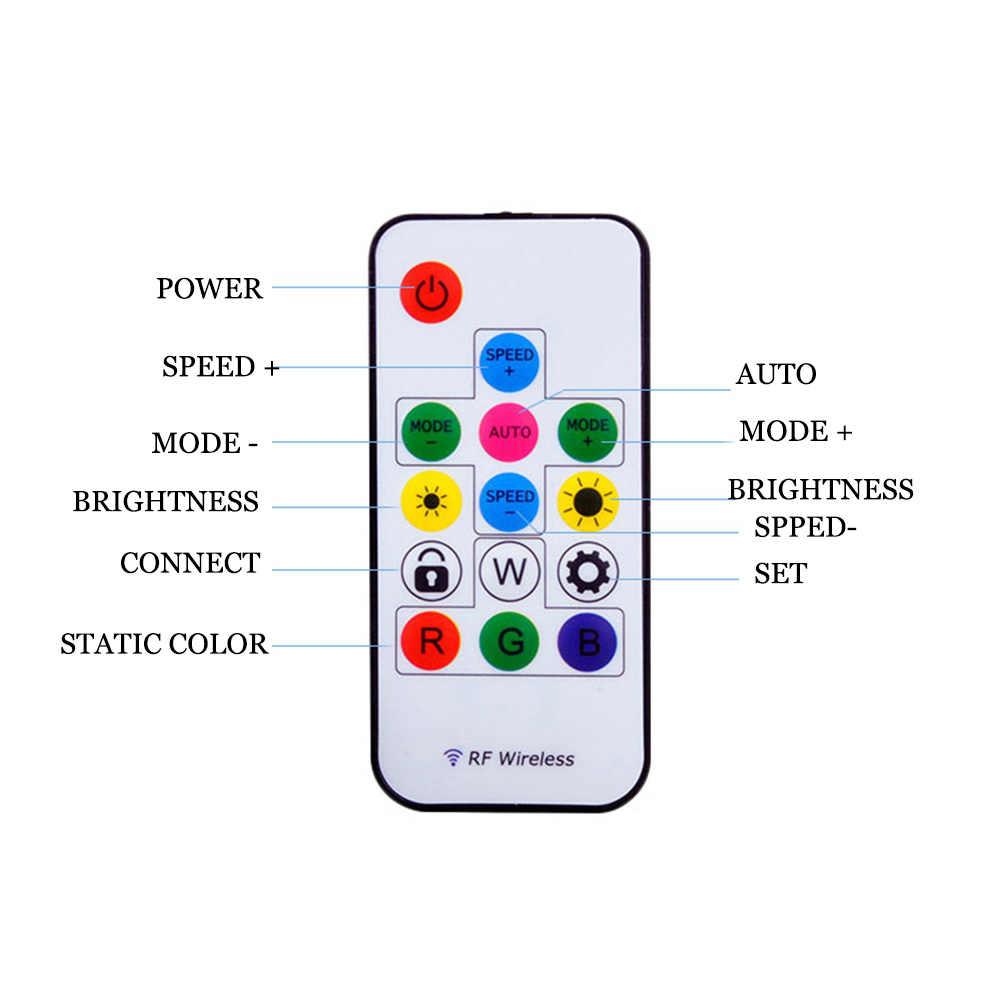 RF14key kontroler Led taśmy pikseli światła kontroler dla WS2811 SK6812 WS2812B 6803 1903 z pilota zdalnego sterowania