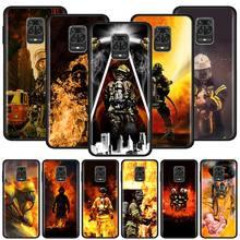 Silicone Phone Case For Xiaomi Redmi Note 9S 7 8 8T 9 Pro Max Redmi 7 8 8A 6 K20 K30 Pro Cover Couqe Firefighter Heroes Fireman silicone phone case for xiaomi redmi note 9s 7 8 8t 9 pro max redmi 7 8 8a 6 k20 k30 pro cover couqe marigold tarot skull card