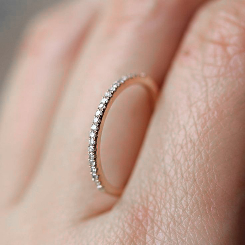 ZHOUYANG Love Cute Wedding Engagement Rings for Women Micro Pave CZ Crystal Sliver Color Fashion Jewelry All Size R133