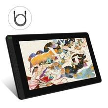 Huion nova chegada kamvas 16(2021) gráficos desenho monitor bateria-livre caneta digital tablet para win/mac e android 120% s rgb