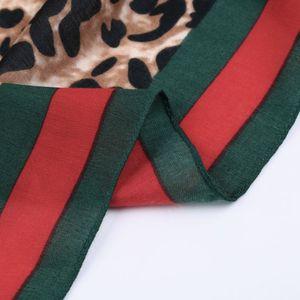 Image 5 - ヒョウのスカーフの女性の冬のショール赤ラフエンドツイル綿高品質印刷パシュミナイスラム教徒ヒジャーブsjaalストールスカーフ女性