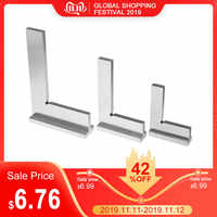 50x40/75x50/100x70mm Machinist Square 90 Degree Right Angle Engineer Set with Seat Precision Ground Steel Hardened Angle Ruler
