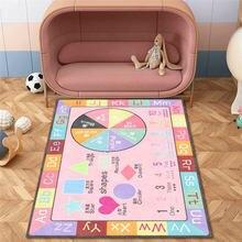 Детский обучающий ковер в стиле модерн Макарон порошок спальня