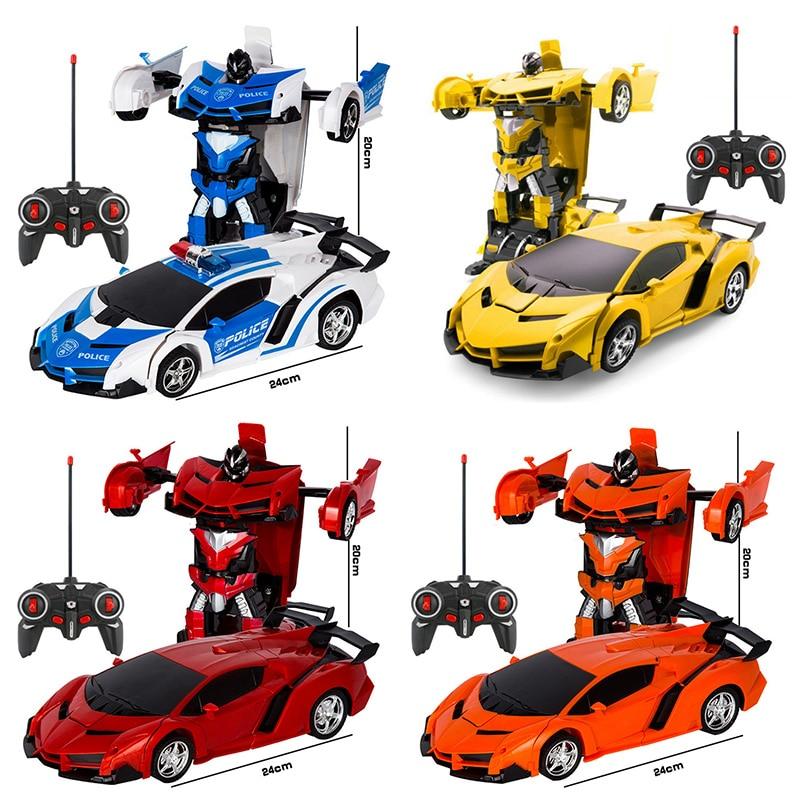 2 в 1 Электрический RC автомобиль трансформации роботы дети мальчики игрушки на открытом воздухе дистанционного Управление спортивные деформации автомобиля модели-роботы игрушка 6