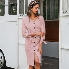 Simplee Elegant women long party dress Bodycon single breasted belt batwing sleeve sexy dress High waist autumn office dresses