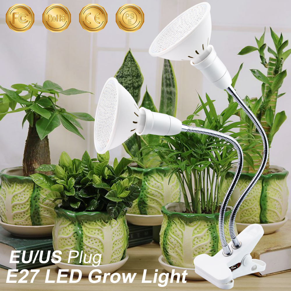 LED Light Grow E27 Clip Full Spectrum LED EU/US Light Bulbs For Plant Growth Light E27 3W 5W 7W 15W 20W For Indoor Growing Tent
