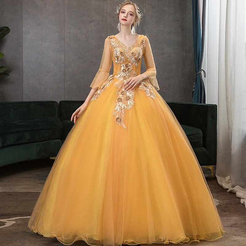 Ball Gown Quinceanera Dresses Yellow Vestido De Festa 15 Anos Robe De Bal Vestidos De Quinseanera 2020 Sweet 16 Dresses