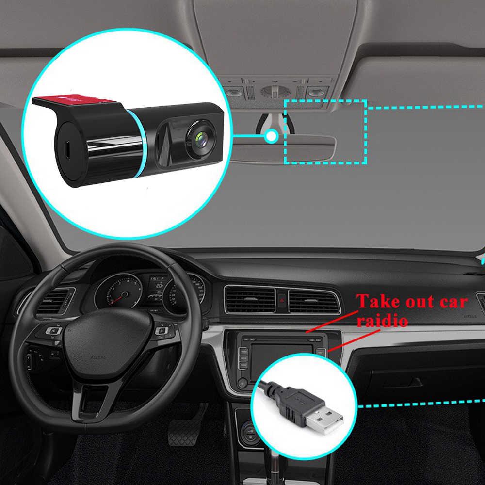 1080P ADAS داش كام جهاز تسجيل فيديو رقمي للسيارات كاميرا مسجل داش كاميرا مسجل ل راديو السيارة الاندورويد USB دعم TF بطاقة كشف الحركة