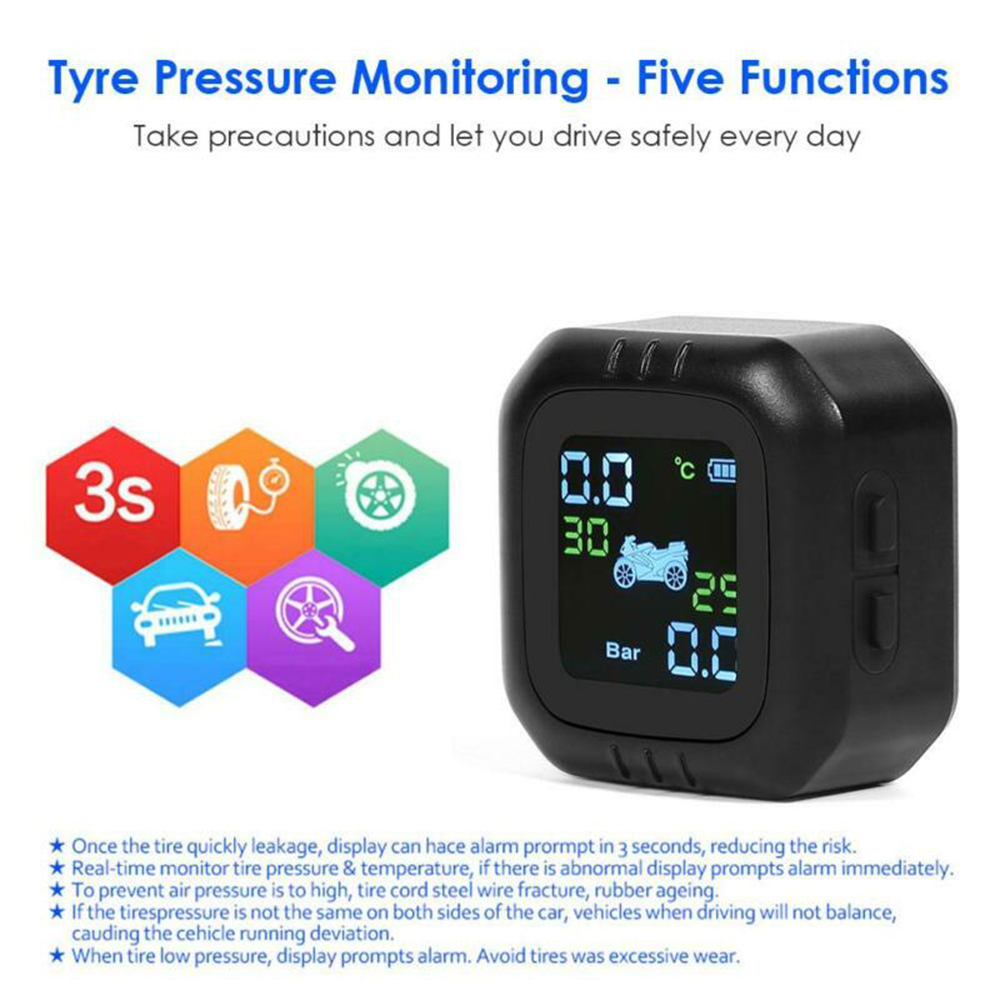 Motorcycle Wheel Tire Pressure Wireless Monitor Sensor System TPMS Tool Durable Durable And Practical