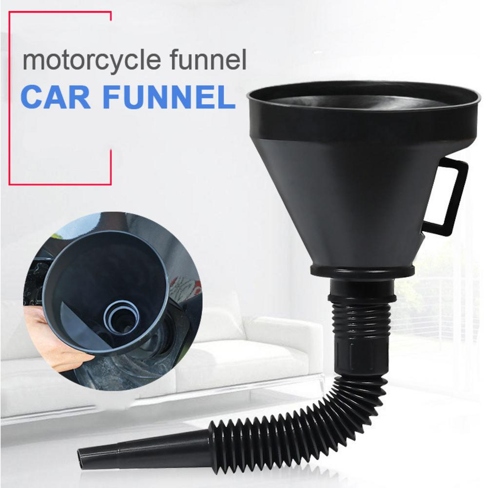 Multi-Functional Plastic Funnel Car Oil Funnel With Flexible Extension Nozzle For Cars And Motorcycles, Engine Oil