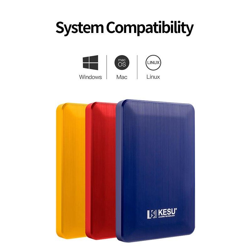 """Zewnętrzny dysk twardy Kesu 2.5 """"przenośny dysk twardy HD Externo 160Gb 500Gb 1TB USB3.0 Storage kompatybilny z PC/Mac/Desktop/Laptop"""