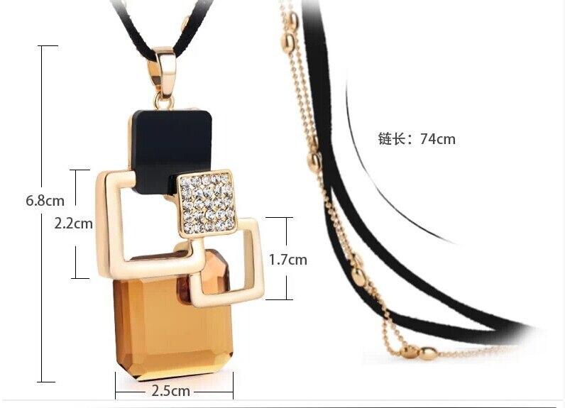 BYSPT longs colliers et pendentifs pour femmes Collier Femme géométrique déclaration Colar Maxi mode cristal Bijoux Bijoux 2
