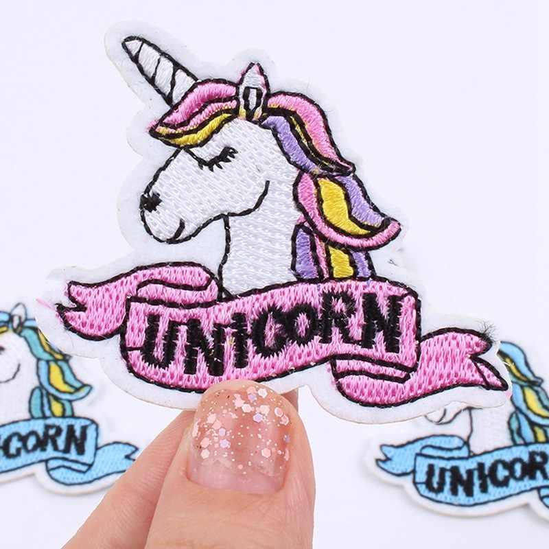 1 Stuk Eenhoorn Borduurwerk Patches Ijzer Of Naaien Doek Plakken Diy Sticker Voor Schoenen Rugzak Naaien Accessoires