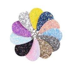 10pcs/set Glitter Teardrop PU Leather Earrings Sequins MultiColor Rainbow Water Drop Ear Hooks Hanging Earring  Womens Jewelry