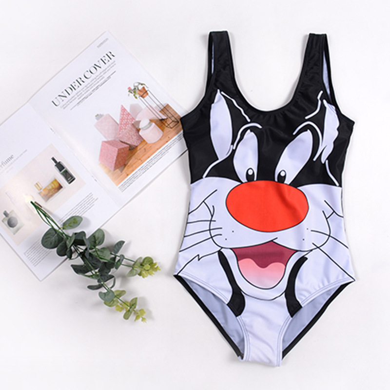 Cross Border For 2019 New Style Children One-piece Women's Hot Selling Cute Cartoon Printed Bathing Suit Manufacturers Currently