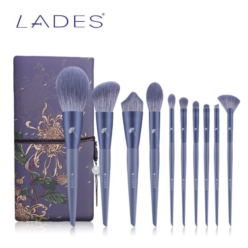 BELÄDT 10PCS Make-Up Pinsel Sets Pulver Sculpting Foundation Lidschatten Blush Make up Pinsel Schönheit Werkzeug Mit Tasche