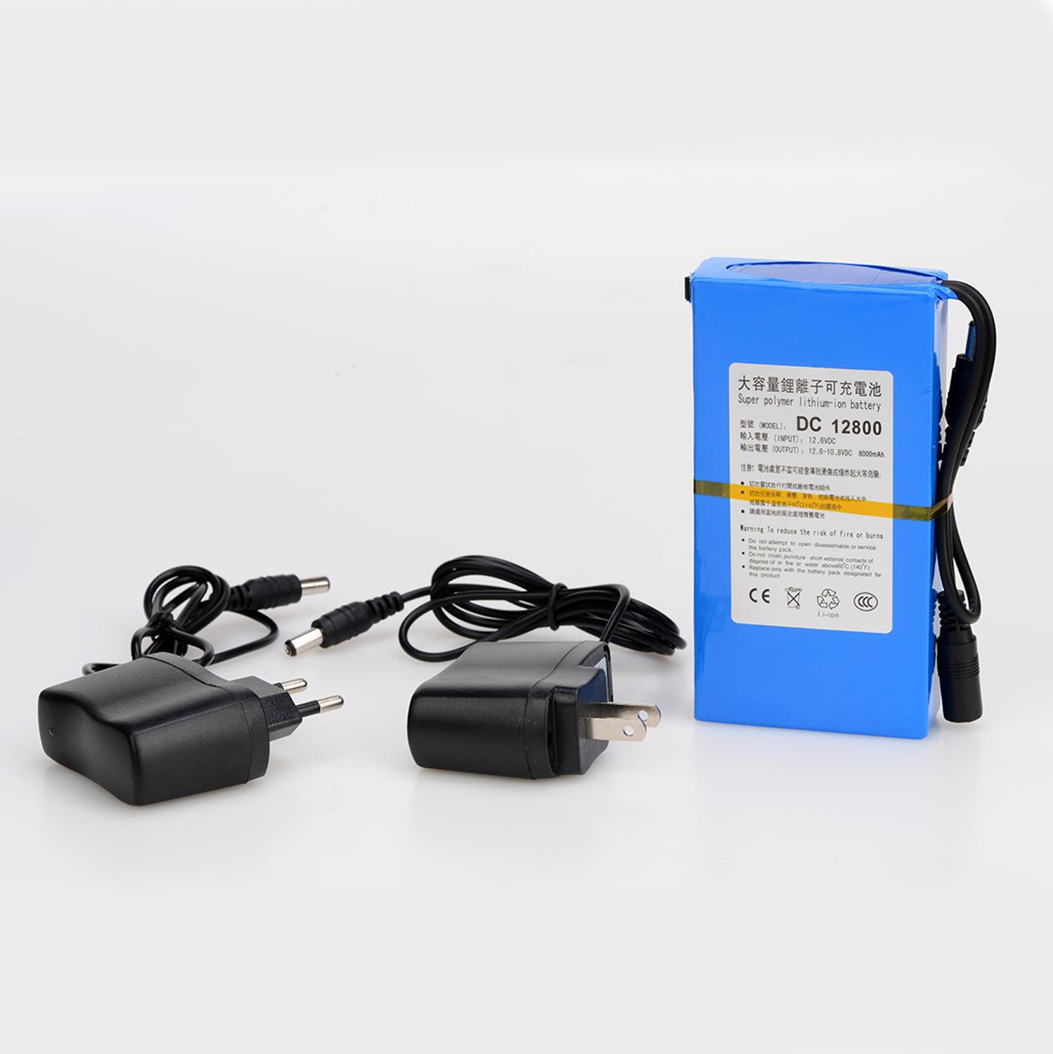 MasterFire 20set/lot <font><b>DC</b></font> 12V 8000MAH Li-ion Super Rechargeable Battery Backup Lithium-ion Batteries Pack For CCTV Camera image