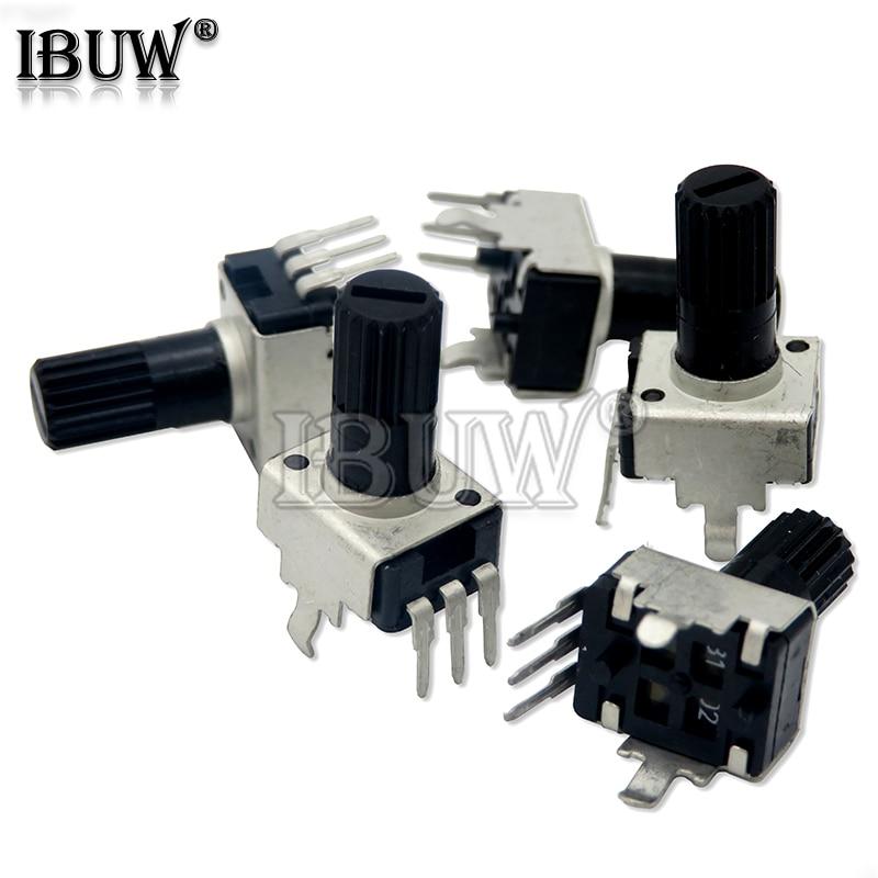 10 шт. RV09 Вертикальная 12,5 мм вал 1k, 2k 5k 10k 20k 50k 100k 0932 регулируемый резистор 9 Тип 3pin уплотнение потенциометра IBUW