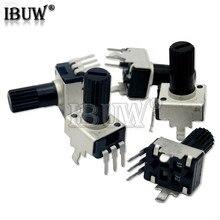 10 pçs rv09 vertical 12.5mm eixo 1k 2k 5k 10k 20k 50k 100k 0932 ajustável resistor 9 tipo 3pin selo potenciômetro ibuw