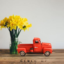 Ruedas calientes orugas juguetes RedMetal camión de construcción de juguete Navidad Vintage con rueda Mesa decoración superior niños regalo Peelgoed Auto