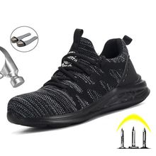 Breathable Mesh Safety Shoes Mens Boots Casual Puncture Proof Work Safety Boot A