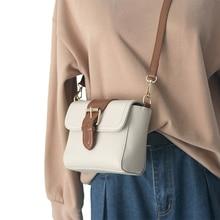 Vintage PU Leather Ladies Shoulder Bags 2020 Small Solid Color Women Crossbody Bag Fashion Female Girls Shoulder Messenger Bags