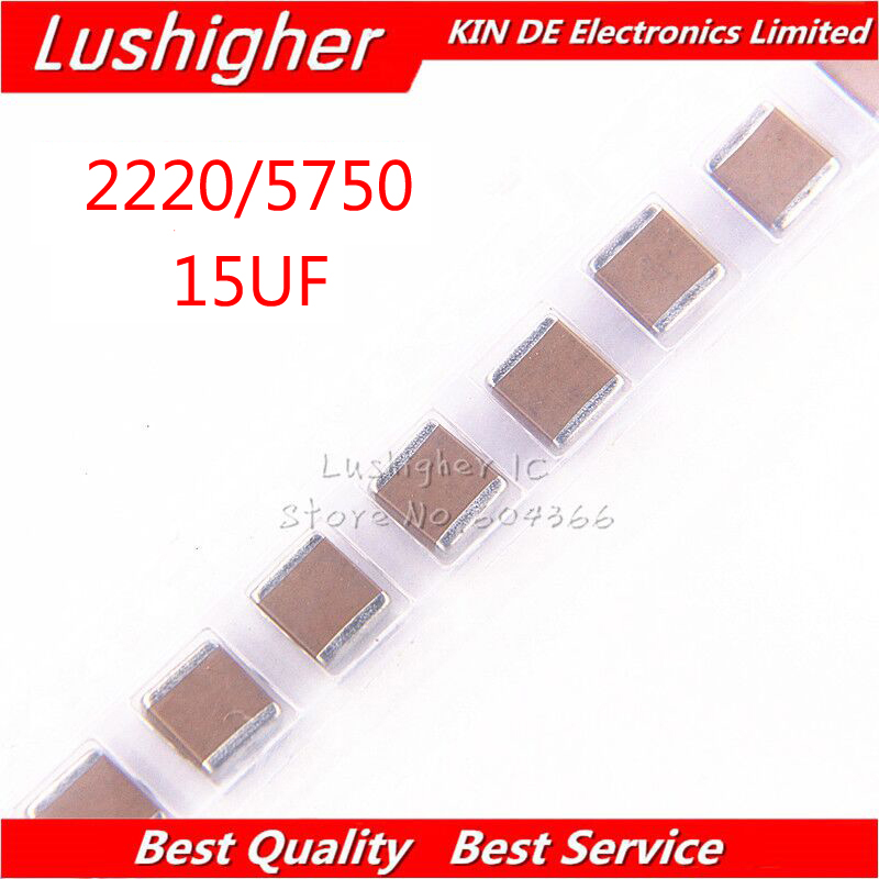 Closeout Deals«5pcs 2220 5750 15uF 156K 1000V 1KV X7R 10% SMD MLCC ceramic capacitor