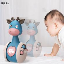 Sliding Deer Baby Tumbler Rattle Learning Education Toys Newborn Teether Infant Hand Bell Mobile Stroller Music Roly-poly Toy