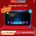 Мультимедийная магнитола Junsun V1 для Seat Ibiza 6j, мультимедийный видеоплеер на Android 10,0, с ИИ-голосовым управлением, GPS Навигатором, без dvd, типоразм...