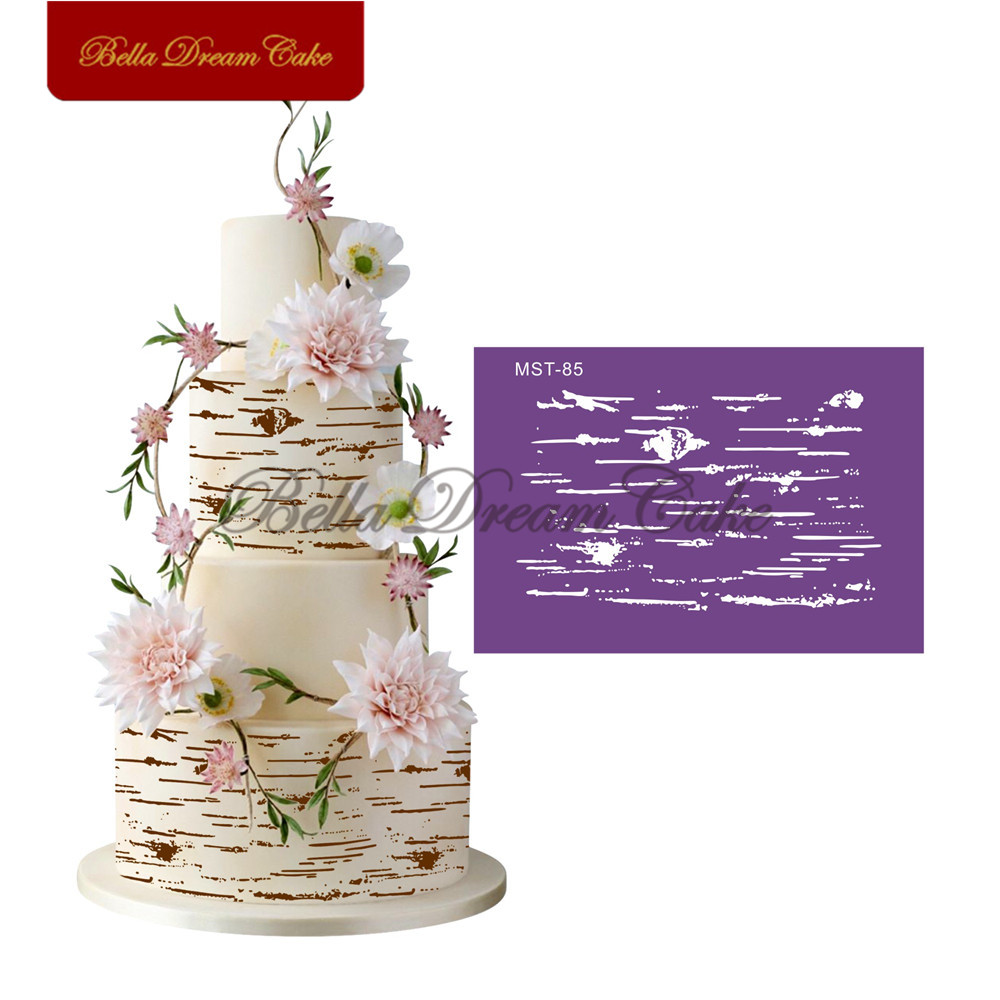 Irregular Line Lace Mesh Stencils Cake Stencil Fondant Cake Mold Sugarcraft Wedding Cake Mould Cake Decorating Tool Bakeware Cake Molds     - title=