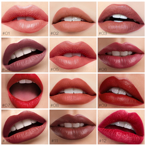 Image 2 - O.TWO.O Semi Velvet Lipstick Nude Rich Color Waterproof Moisturizing Long Lasting Lightweight Lips Makuep 12 Colors