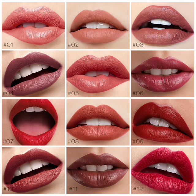 O TWO O Semi Velvet Lipstick Nude Rich Color Waterproof Moisturizing Long Lasting Lightweight Lips Makuep